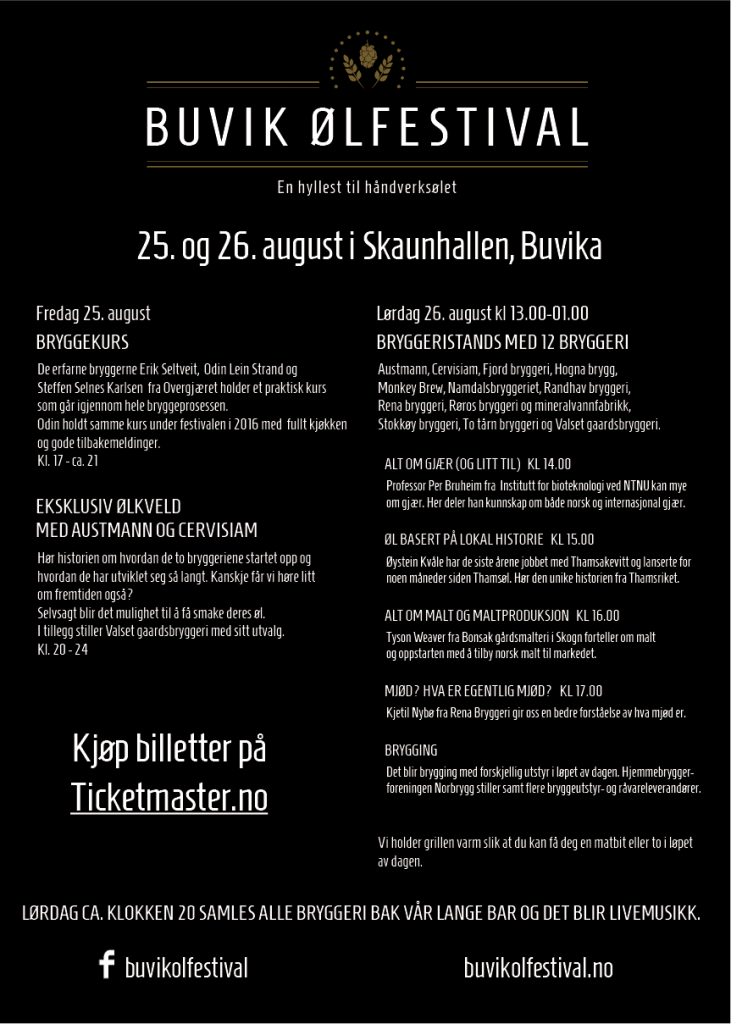 Program for Buvik ølfestival 2017