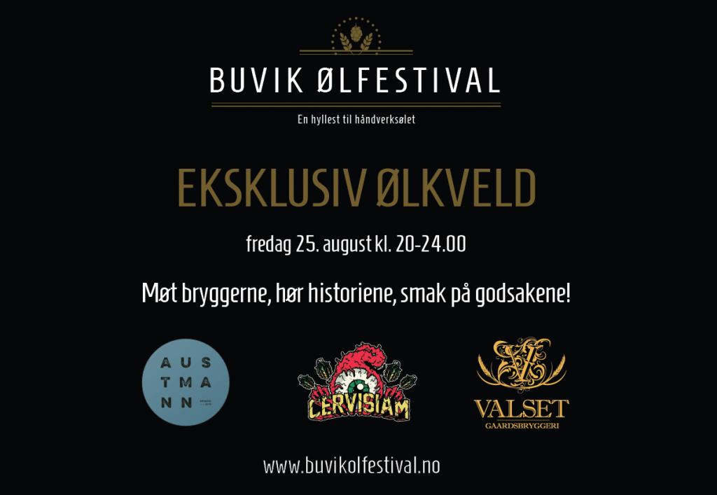 Eksklusiv ølkveld med Austmann og Cervisiam på Buvik ølfestival fredag 25. august 2017