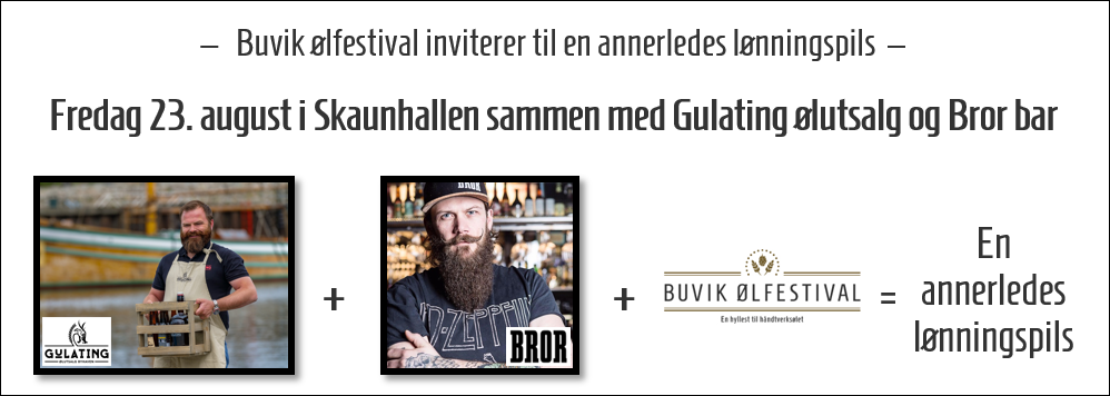 En annerledes lønningspils fredag 23. august 2019 med Gulating ølutsalg Byhaven og Bror Bar